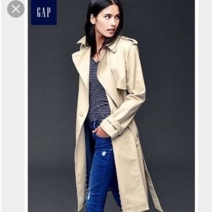 NWT🧥GAP🧥BELTED TRENCH COAT WITH POCKETS 🧥